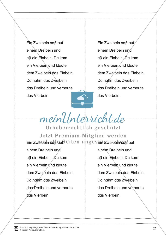 """Mnemotechniken: Unterrichtsstunde zum Thema """"Bildhafte Assoziation"""" + Zielsetzung und didaktische Hinweise Preview 7"""