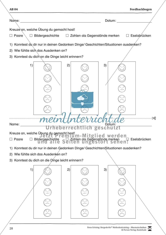 """Mnemotechniken: Unterrichtsstunde zum Thema """"Bildhafte Assoziation"""" + Zielsetzung und didaktische Hinweise Preview 8"""