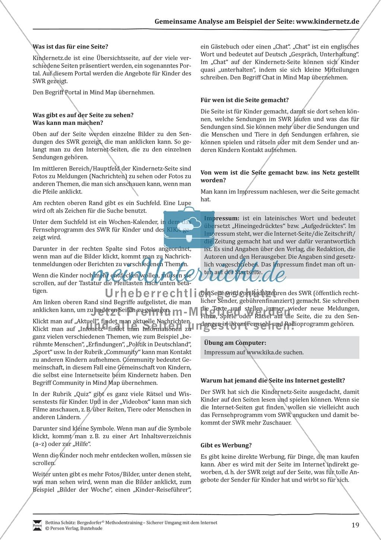 Inhalte von Internetseiten nutzen und einschätzen Preview 3