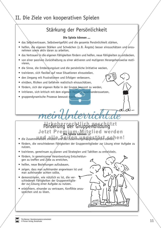 Soft Skills: Spiele zur Förderung der Achtung voreinander innerhalb der Gruppe Preview 1