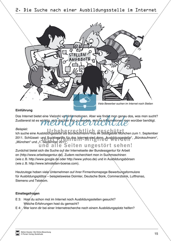 Eine Ausbildungsstelle im Internet suchen + Lehrerhinweise Preview 2
