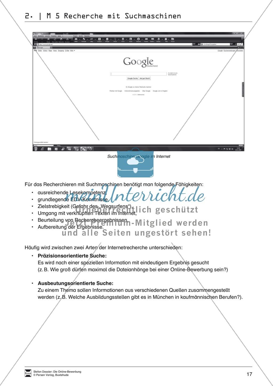 Eine Ausbildungsstelle im Internet suchen + Lehrerhinweise Preview 3