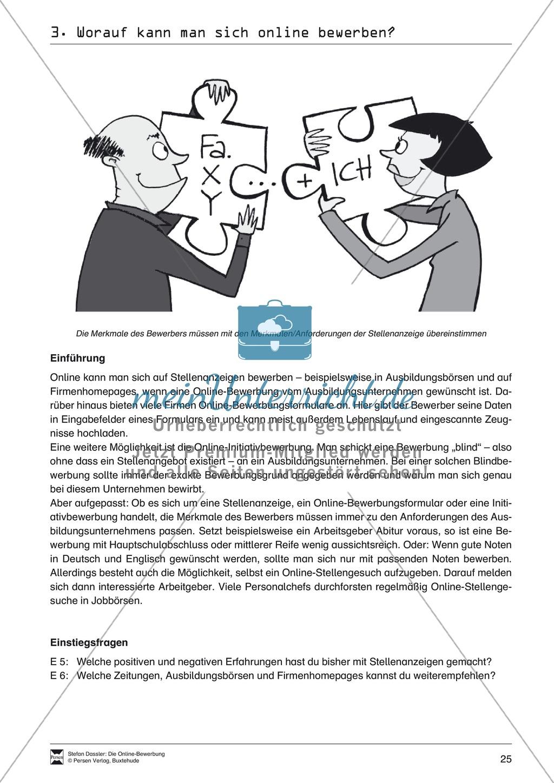 Der Online-Stellenmarkt + Lehrerhinweise Preview 1
