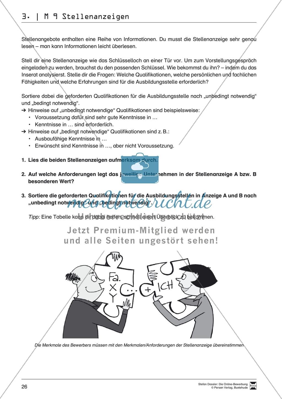 Der Online-Stellenmarkt + Lehrerhinweise Preview 2