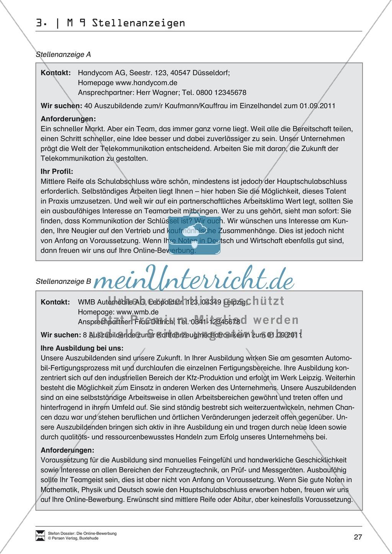 Der Online-Stellenmarkt + Lehrerhinweise Preview 3