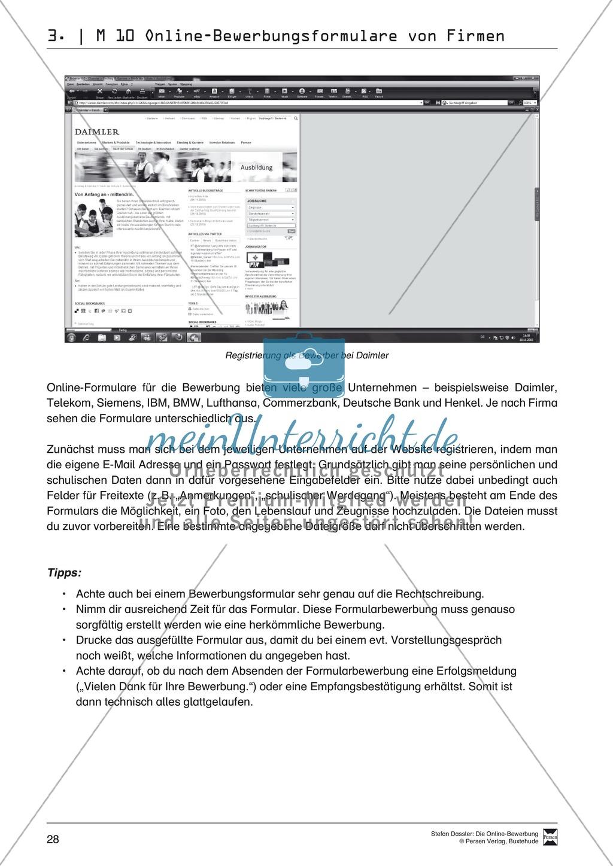Der Online-Stellenmarkt + Lehrerhinweise Preview 4