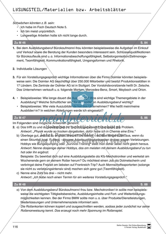 Alles Wichtige zum Vorstellungsgespräch + Lehrerhinweise Preview 9