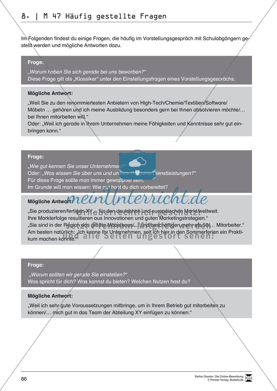 Alles Wichtige zum Vorstellungsgespräch + Lehrerhinweise Preview 5