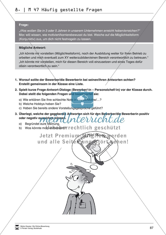 Alles Wichtige zum Vorstellungsgespräch + Lehrerhinweise Preview 6