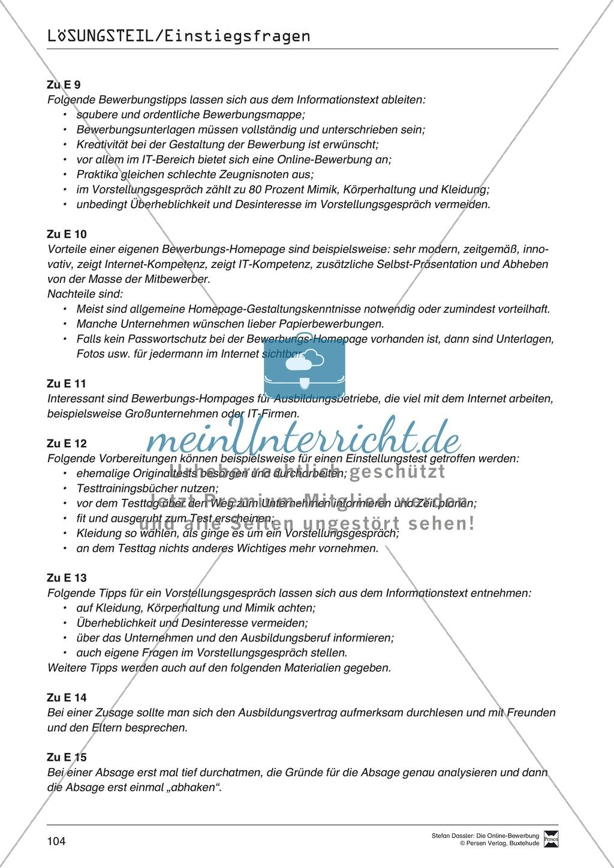 Kleines Wissensquiz rund um das Thema Bewerbungen mit Lösungen + Lehrerhinweise Preview 11