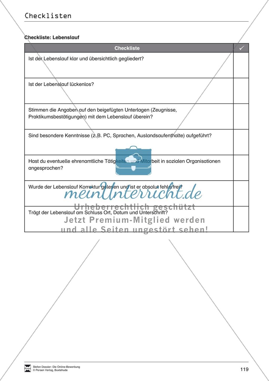 Hilfestellung für das Schreiben von Bewerbungen: Checklisten zum Abhaken + Glossar Preview 1