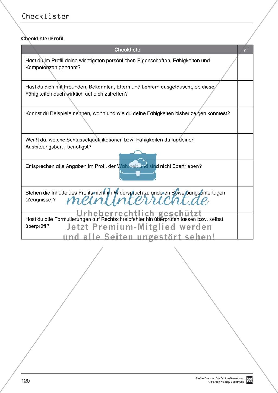 Hilfestellung für das Schreiben von Bewerbungen: Checklisten zum Abhaken + Glossar Preview 2
