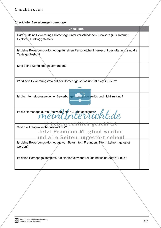 Hilfestellung für das Schreiben von Bewerbungen: Checklisten zum Abhaken + Glossar Preview 3
