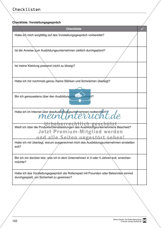 Hilfestellung für das Schreiben von Bewerbungen: Checklisten zum Abhaken + Glossar Preview 4