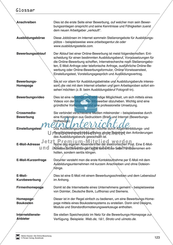 Hilfestellung für das Schreiben von Bewerbungen: Checklisten zum Abhaken + Glossar Preview 5