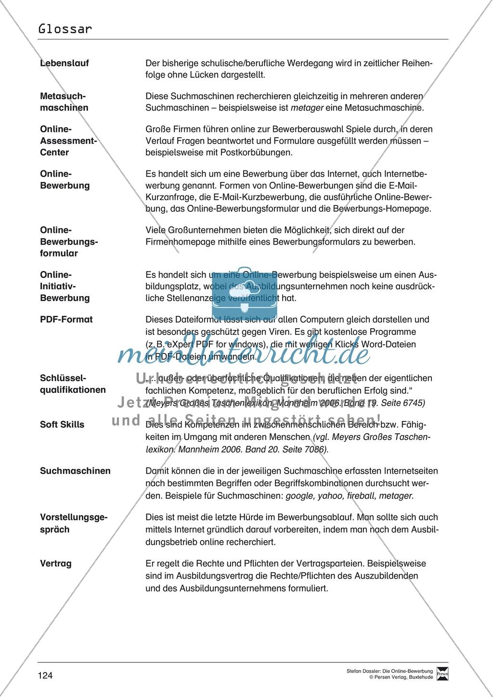 Hilfestellung für das Schreiben von Bewerbungen: Checklisten zum Abhaken + Glossar Preview 6