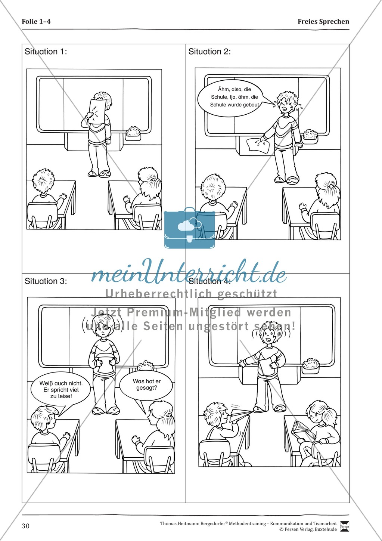 Methodentraining: Freies Sprechen Preview 1