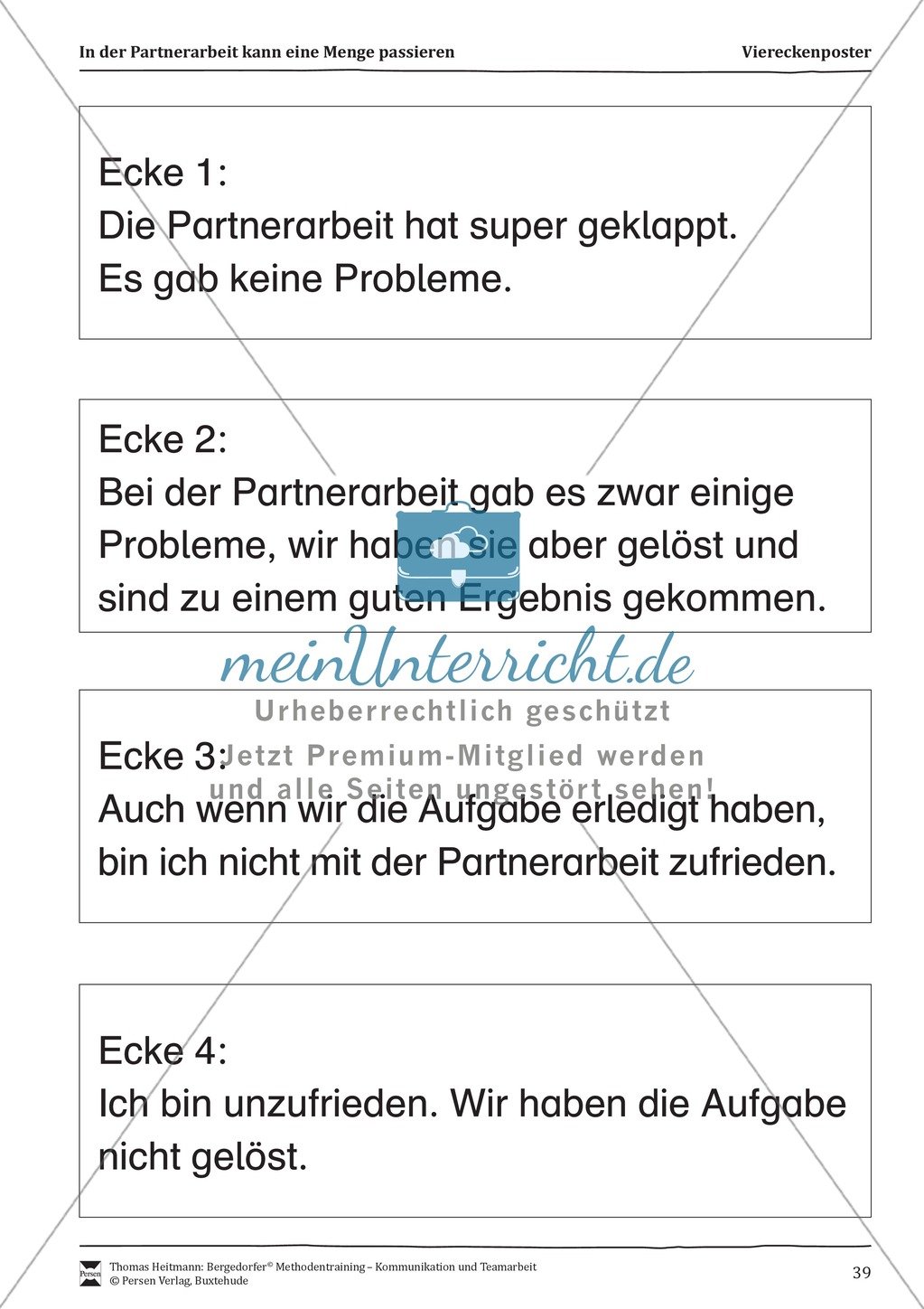 Methodentraining: Konflikte in der Partnerarbeit Preview 2