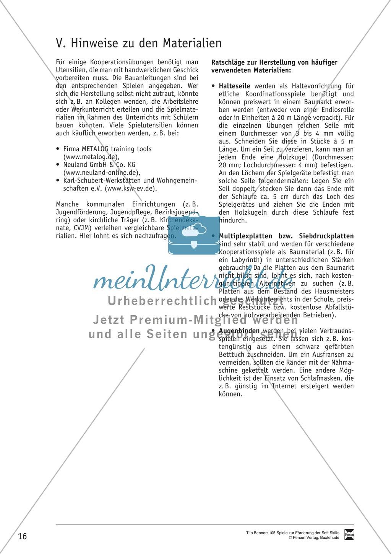 Soft Skills: Koordinationsspiele zur Förderung der Zusammenarbeit innerhalb der Gruppe Preview 9