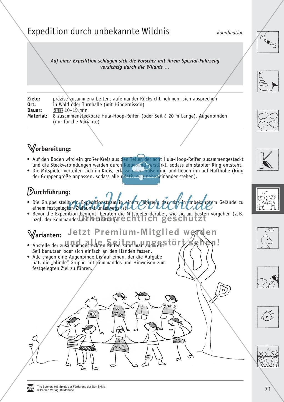 Soft Skills: Koordinationsspiele zur Förderung der Zusammenarbeit innerhalb der Gruppe Preview 10