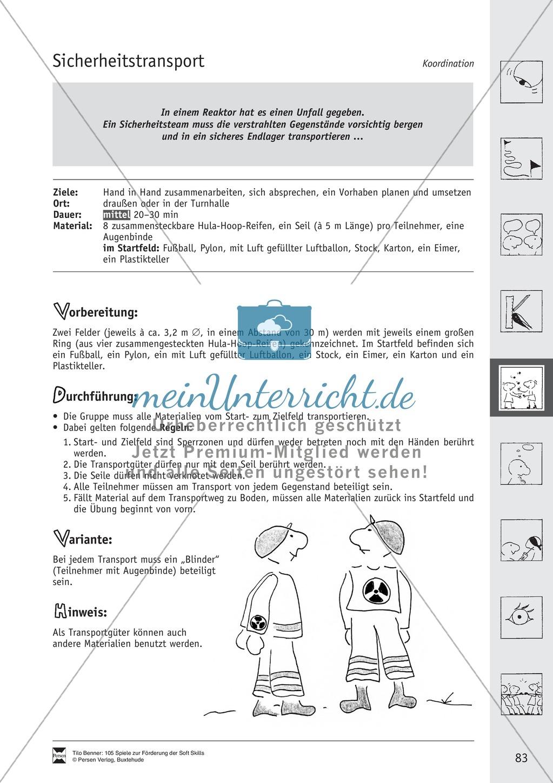 Soft Skills: Koordinationsspiele zur Förderung der Zusammenarbeit innerhalb der Gruppe Preview 22