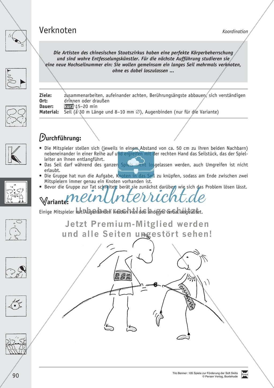 Soft Skills: Koordinationsspiele zur Förderung der Zusammenarbeit innerhalb der Gruppe Preview 29