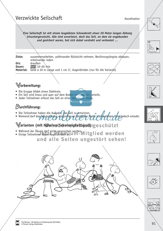 Soft Skills: Koordinationsspiele zur Förderung der Zusammenarbeit innerhalb der Gruppe Preview 30