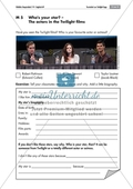 Who's your star? The actors in the Twilight films: worksheet Preview 1