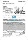 Englisch, Grammatik, Themen, Adjektive / adjectives, Alltag, comparative, Grammatik