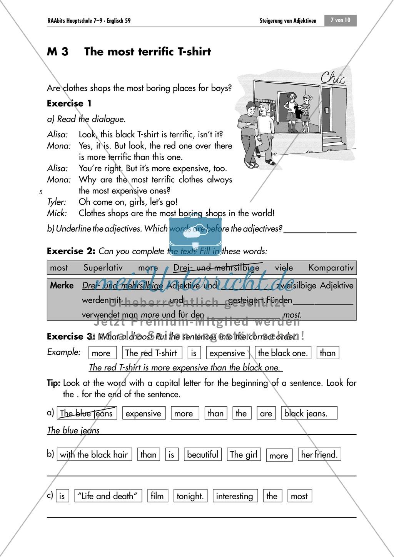 Übungen zum Superlativ: World of records. Enthält ein Arbeitsblatt ...