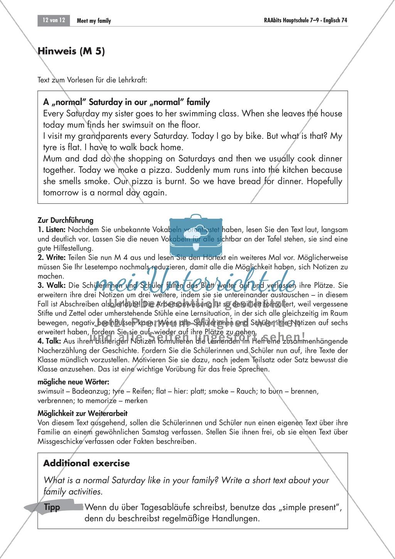 Meet my family! Wir stellen unsere Familien vor und üben das freie Sprechen: Übungen + Lösungen Preview 9