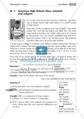 American High School: getting to know the system and comparing it to Germany; worksheets and explanations Preview 1