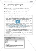 American High School: getting to know the system and comparing it to Germany; worksheets and explanations Preview 3