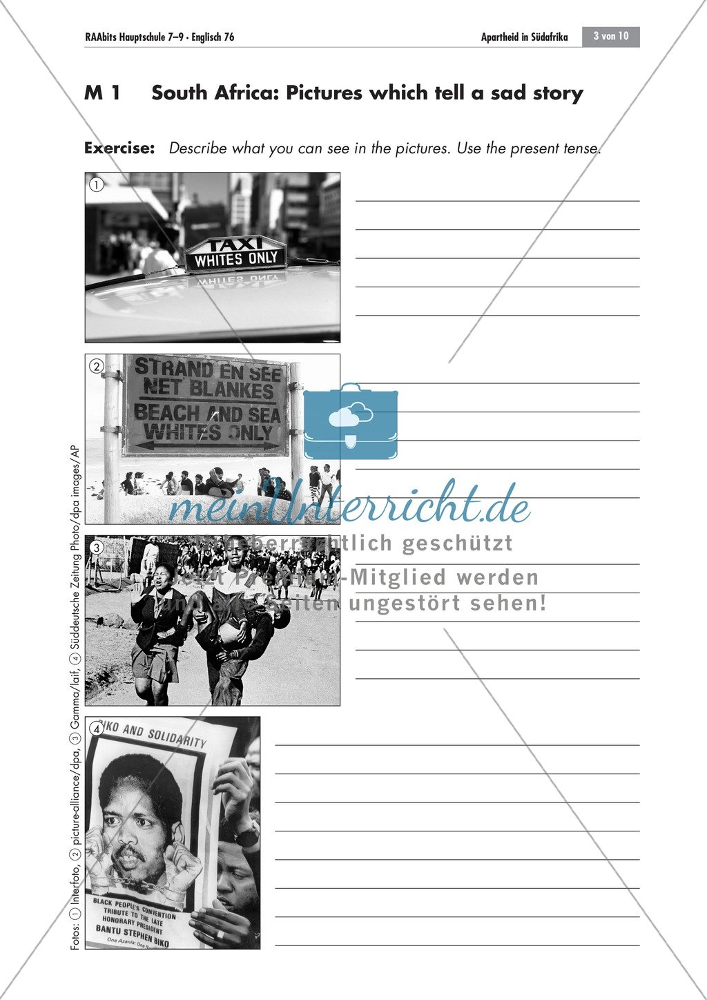 Apartheid South Africa: brainstorming; worksheets and explanations Preview 0