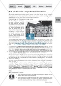 'All the world's a stage' - The Elizabethan theatre (active approach): worksheets and explanations Preview 1