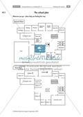 Giving directions in a building - Beschreiben des Weges zwischen zwei Räumen + Arbeitsblätter + Tipps Preview 1