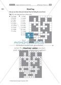 Englisch, Grammatik, Verben / verbs, Irregular Verbs, crossword