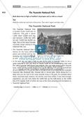 Having a poster session - Sinnentnehmendes Lesen an Texten über US-amerikanische Städte und Nationalparks üben: Übungen + Lösungen Preview 11