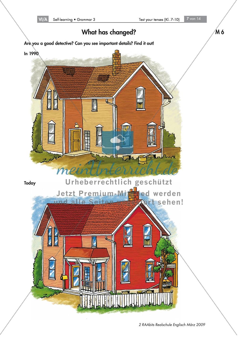 Übung zum Present Perfect: What has changed? Die Abbildung eines Hauses beschreiben + Lösung Preview 0