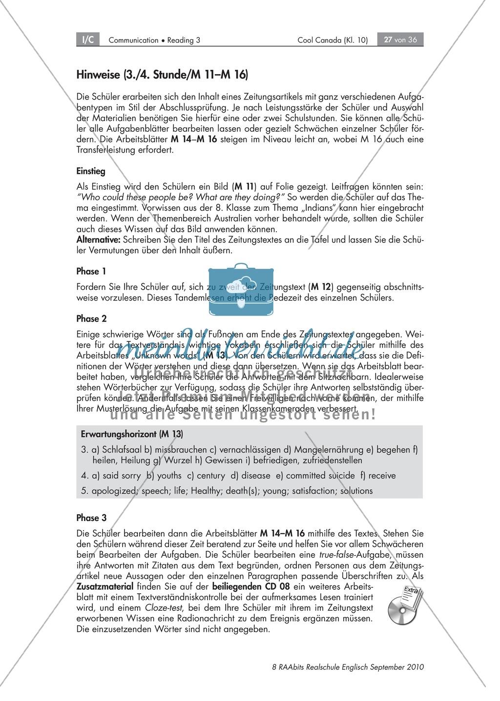 Textarbeit an Sachtexten über Kanada: Übungen zum Textverständnis + Lösungen Preview 20
