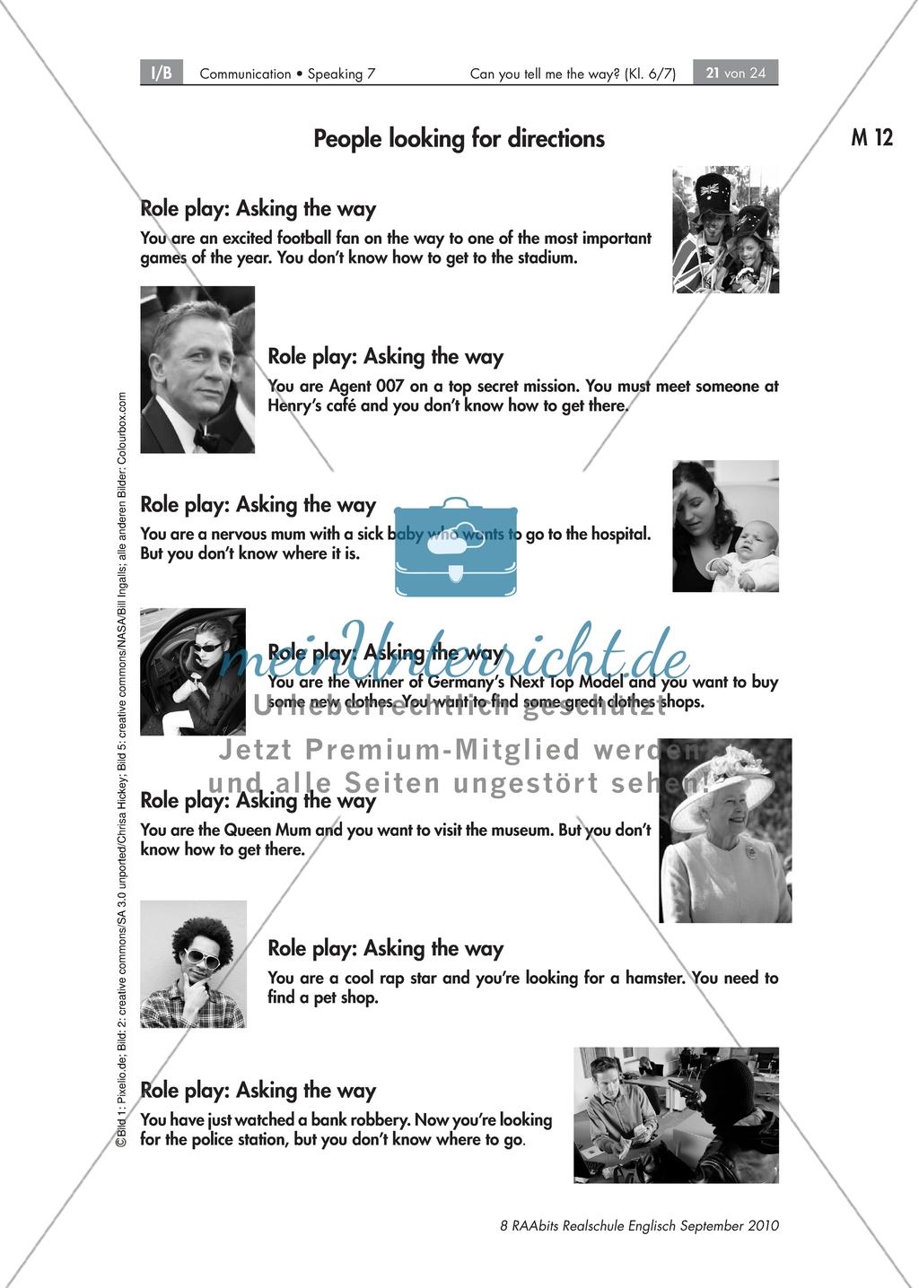 Can you tell me the way - and a bit more? Zufällige Begegnungen sprachlich nutzen: Arbeitsblätter + Übungen Preview 15