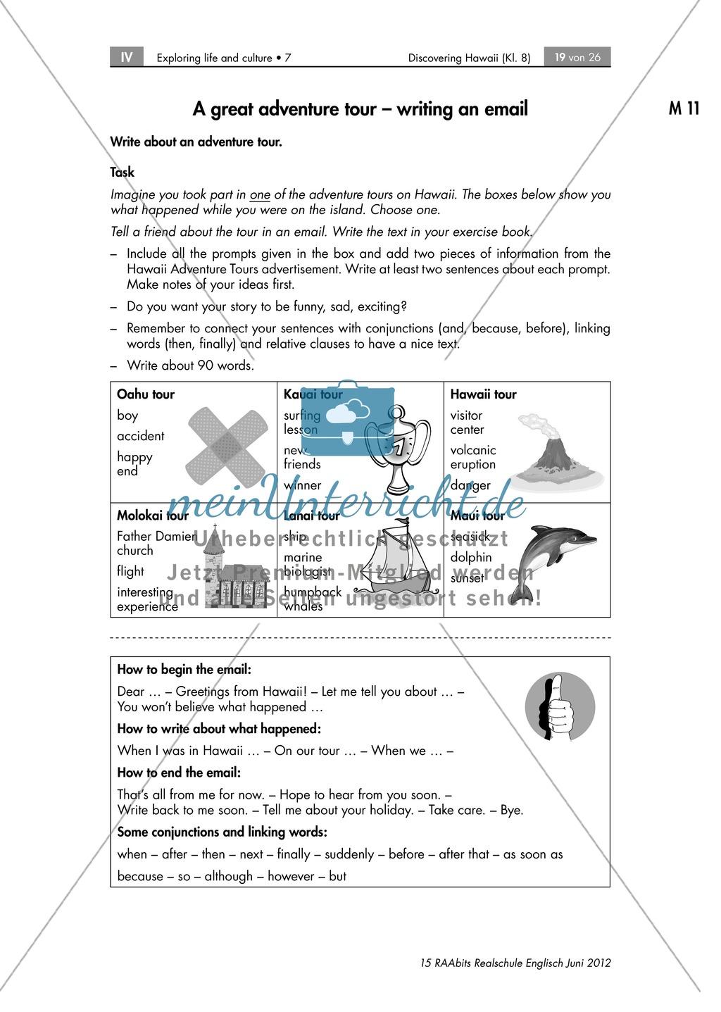 Landeskunde Hawaii anhand eines Gruppenpuzzles: Übungen + Lösungen Preview 13