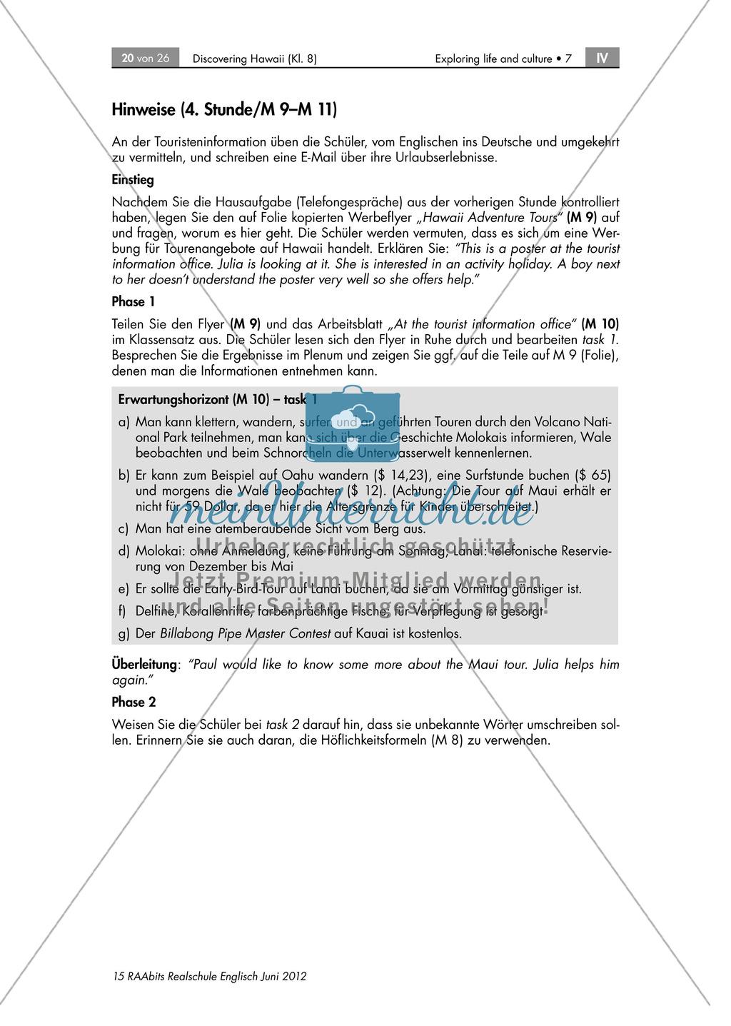Landeskunde Hawaii anhand eines Gruppenpuzzles: Übungen + Lösungen Preview 14