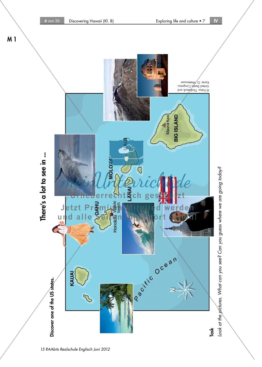 Landeskunde Hawaii anhand eines Gruppenpuzzles: Übungen + Lösungen Preview 0