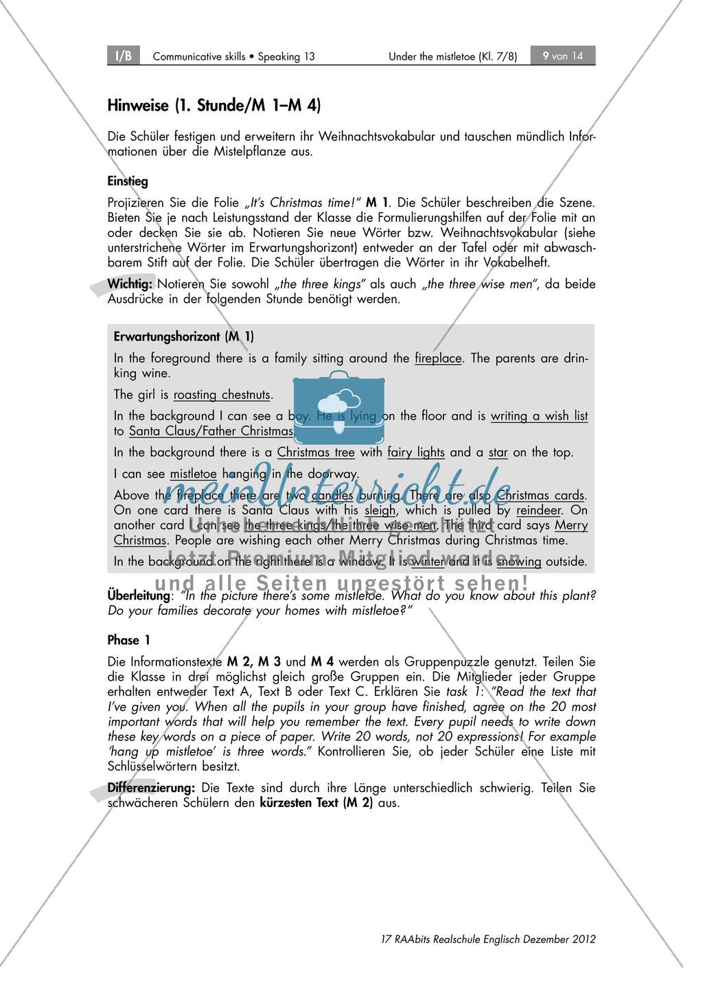 All about the mistletoe: Informationstexte zum Mistelzweig und ...