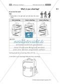 Englisch, Themen, Alltag, Schule, School, word field, riddle