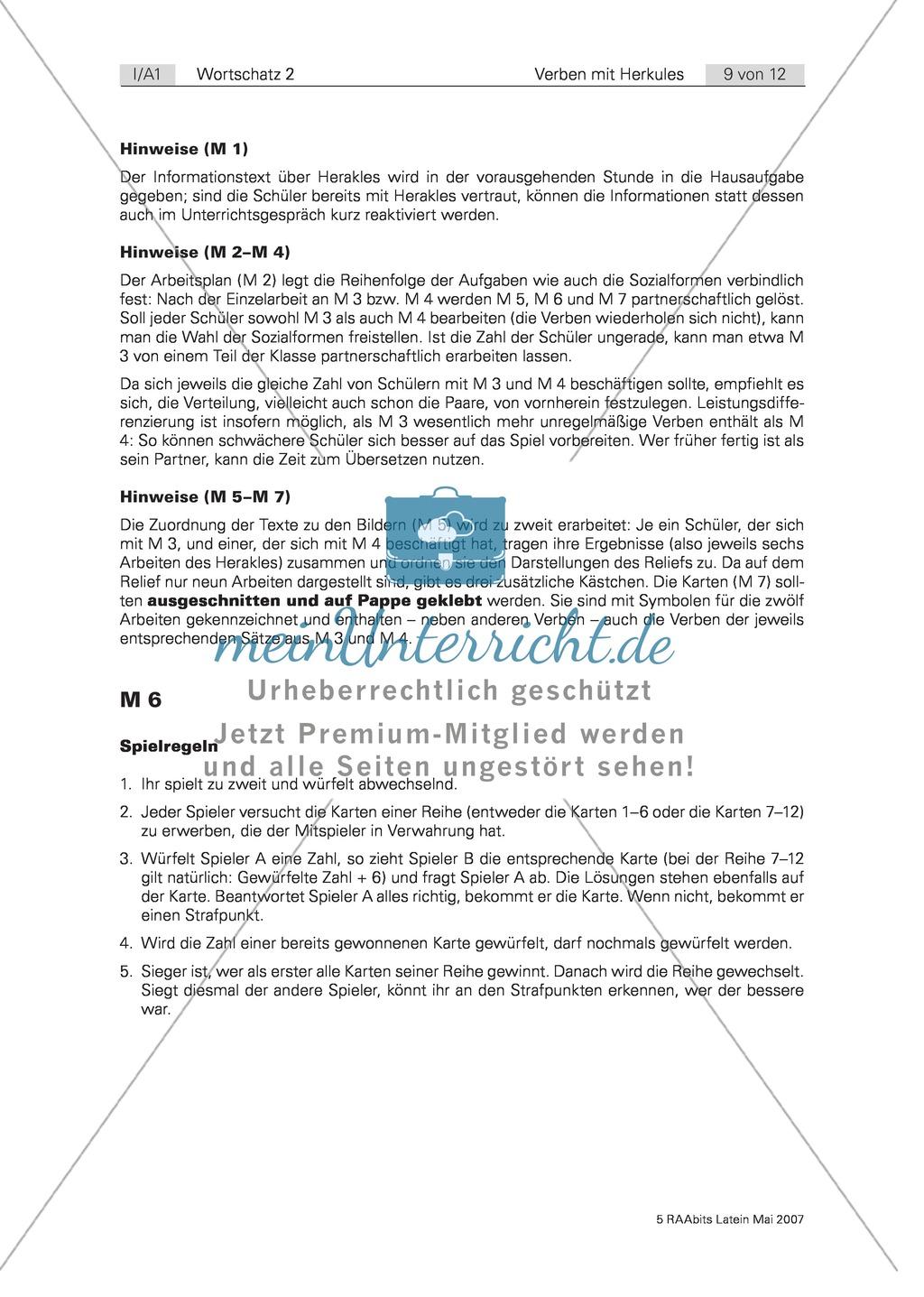 Herakles und seine zwölf Arbeiten: Ein Informationstext zum Mythos rund um Herakles mit Arbeitsplan und Hinweisen Preview 1