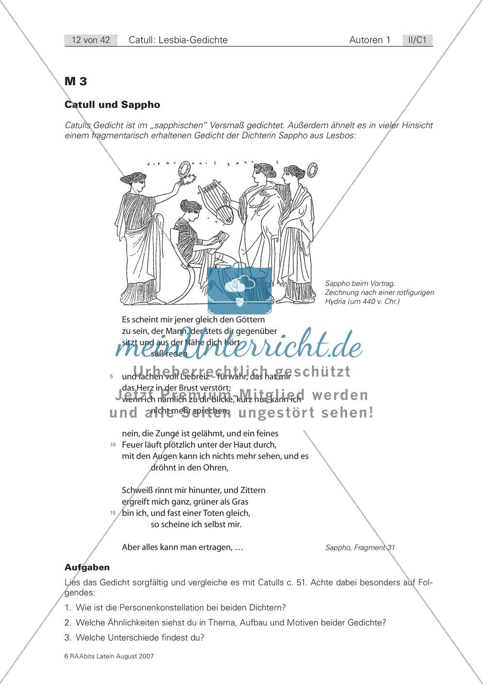 Liebespaare in Mythos und Wirklichkeit und das Vorbild von Sappho. Mit Originaltext und Hinweisen. Preview 2