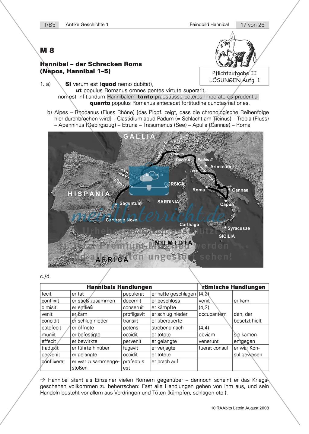 Der zweite Punische Krieg und Ausschnitt aus Nepos'