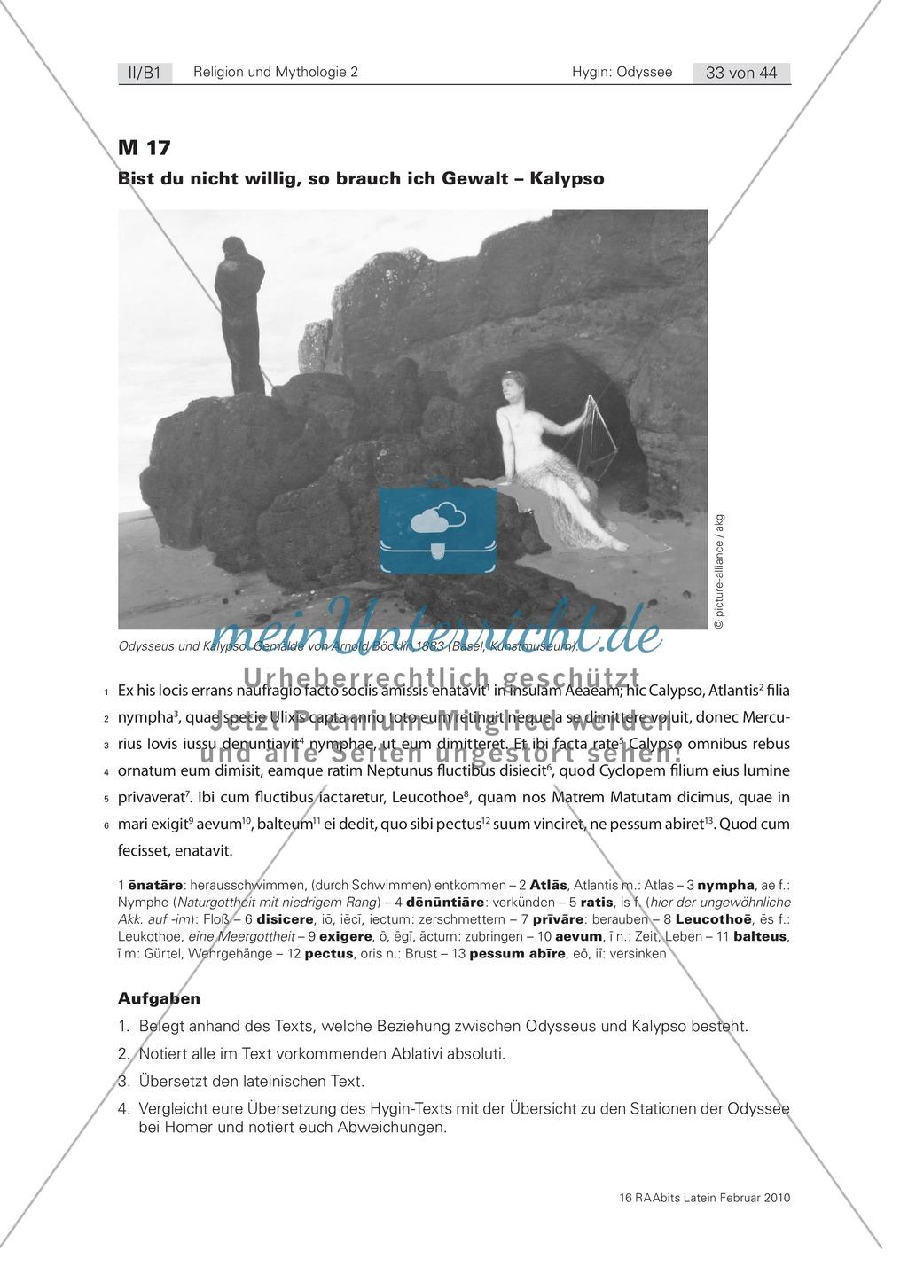 Eine Liebe auf Augenhöhe?: Die Beziehung von Kalypso und Odysseus. Mit Bild und Text zum Übersetzen Preview 0